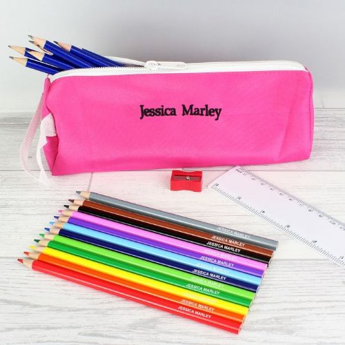 Pink Pencil Case & Personalised Content